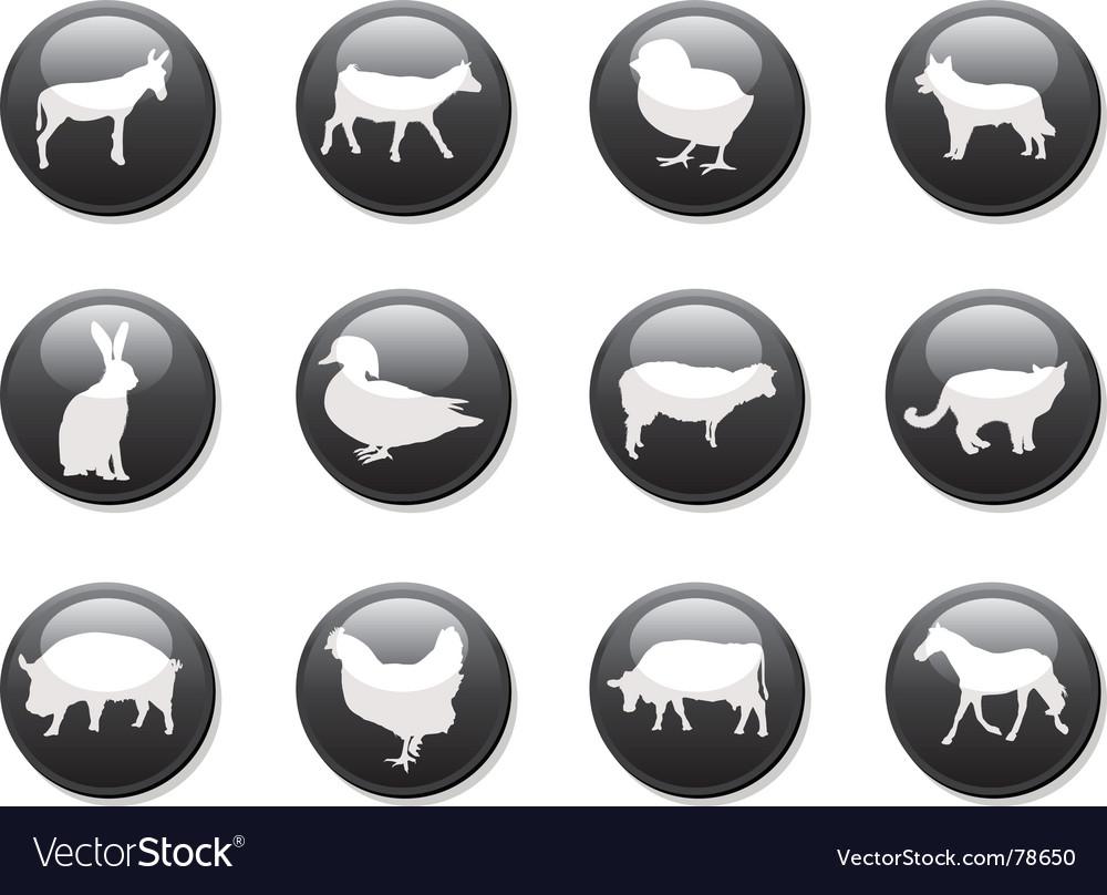 Farm animals buttons