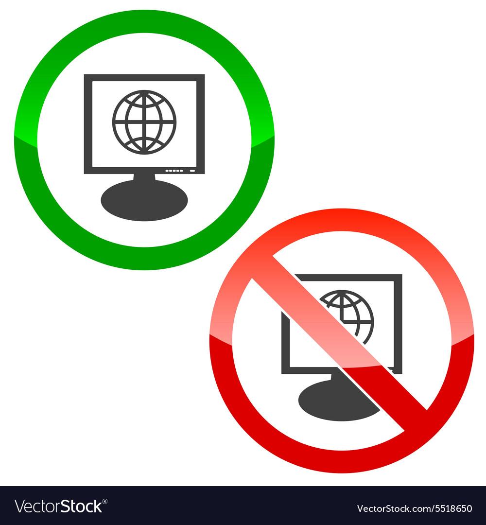 Globe monitor permission signs