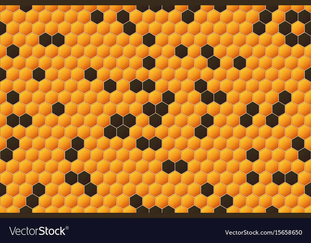 Honeycomb seamless pattern geometric hexagons vector image
