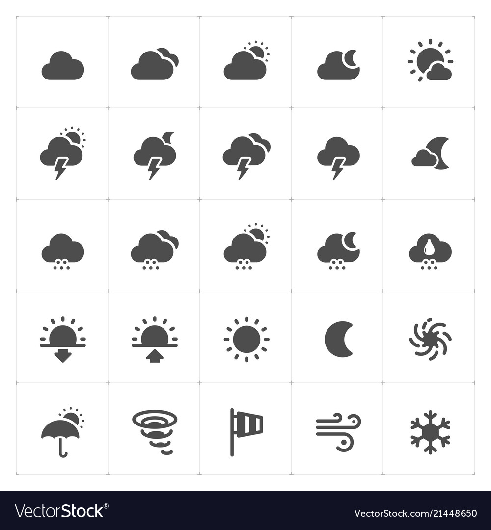 Icon set - weather and forecast filled icon style