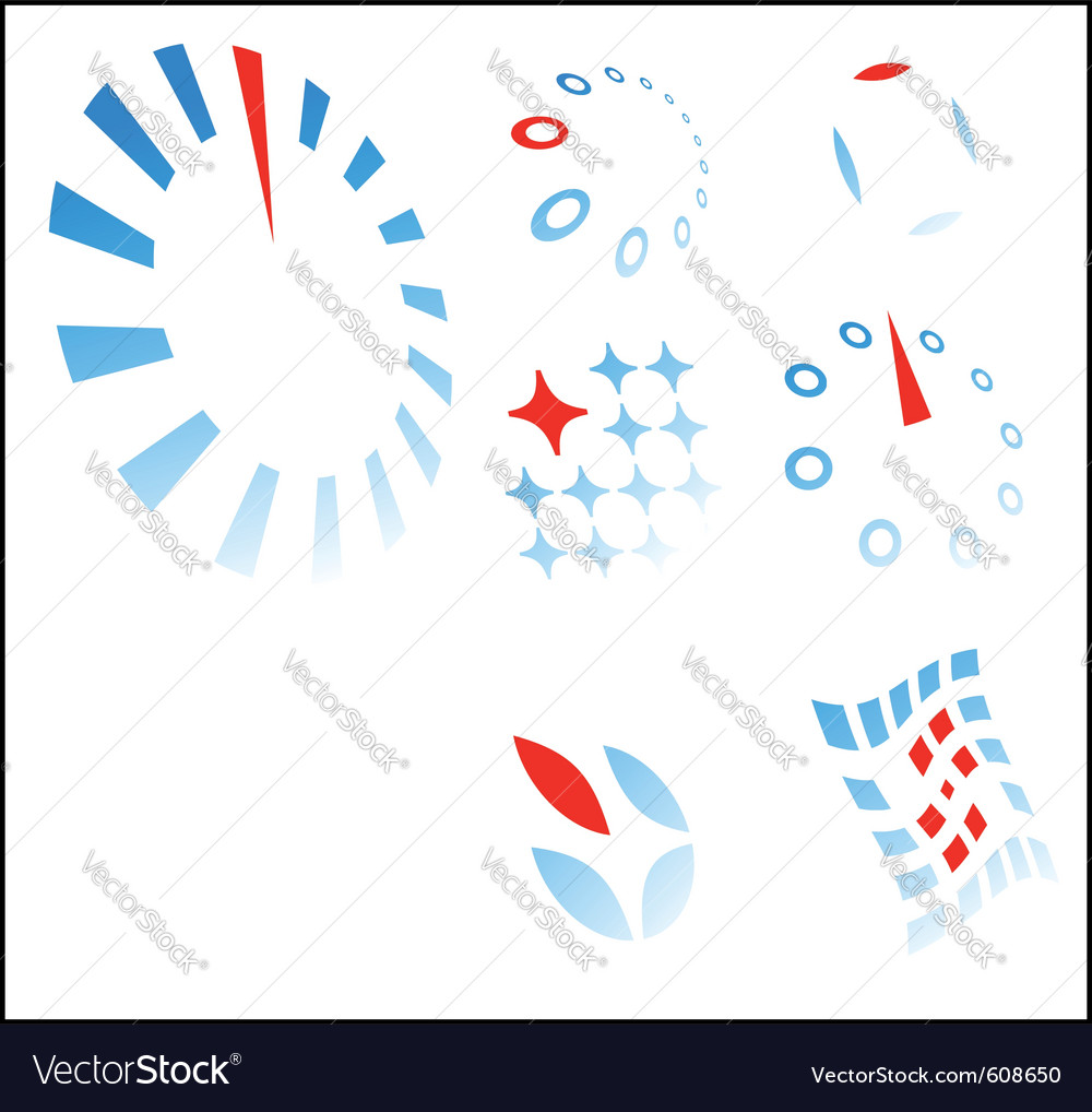 Logo templates - concept build on difference vector image