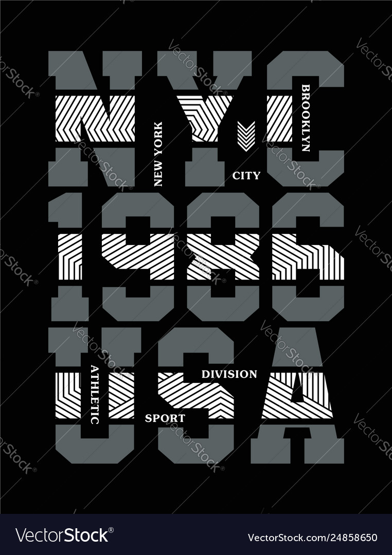Nyc typography design for t-shirt printing