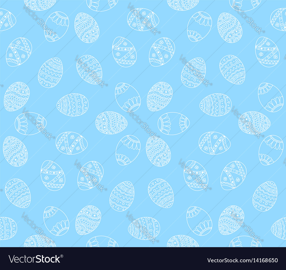 Seamless simple pattern with easter eggs easter
