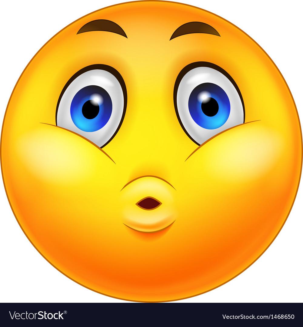 Smiley Emoticons cartoon Surprise Expression vector image