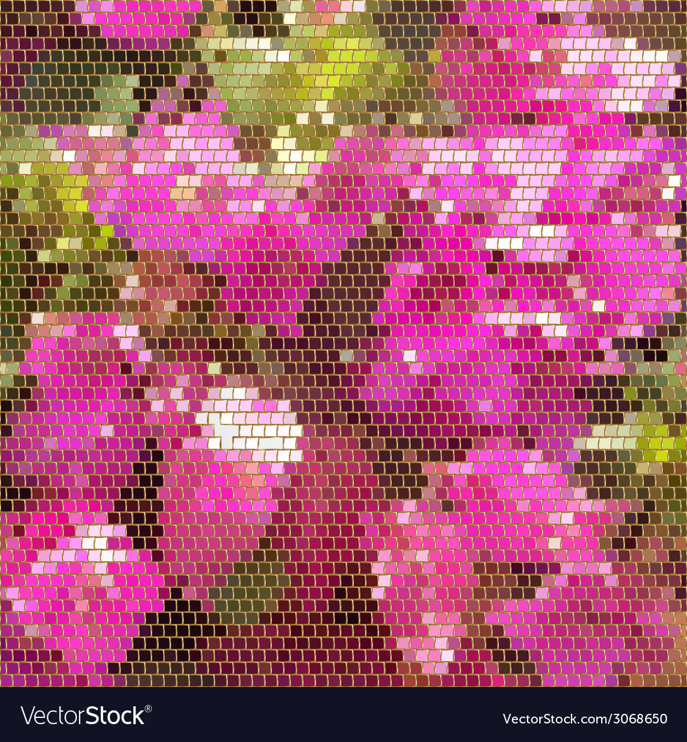 Square mosaic with golden frames background