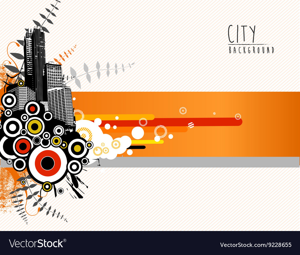 Abstract template with city scape