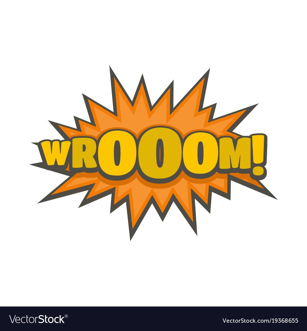 Comic boom sticker icon flat style vector image