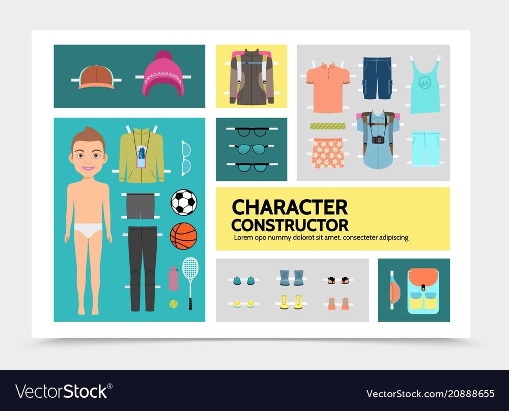 Flat sport man character infographics