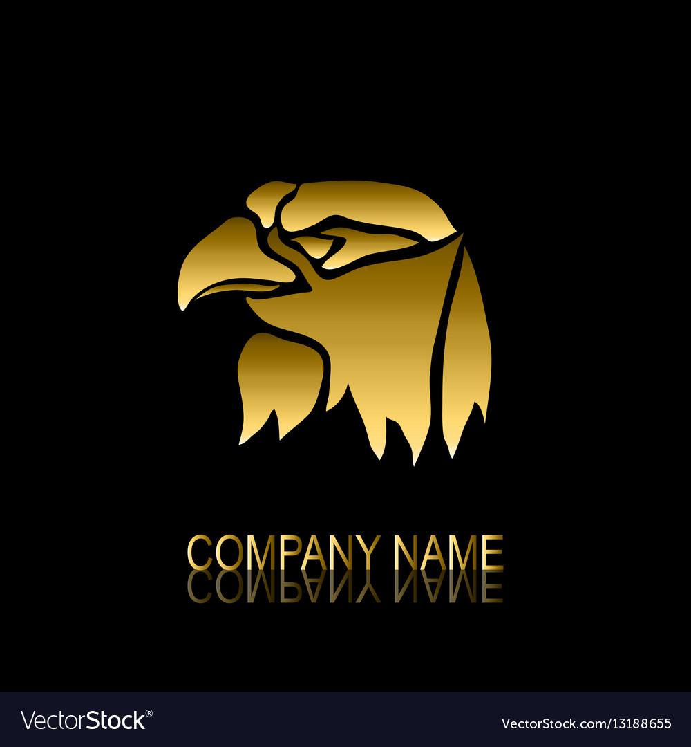 Golden Eagle Symbol Royalty Free Vector Image Vectorstock