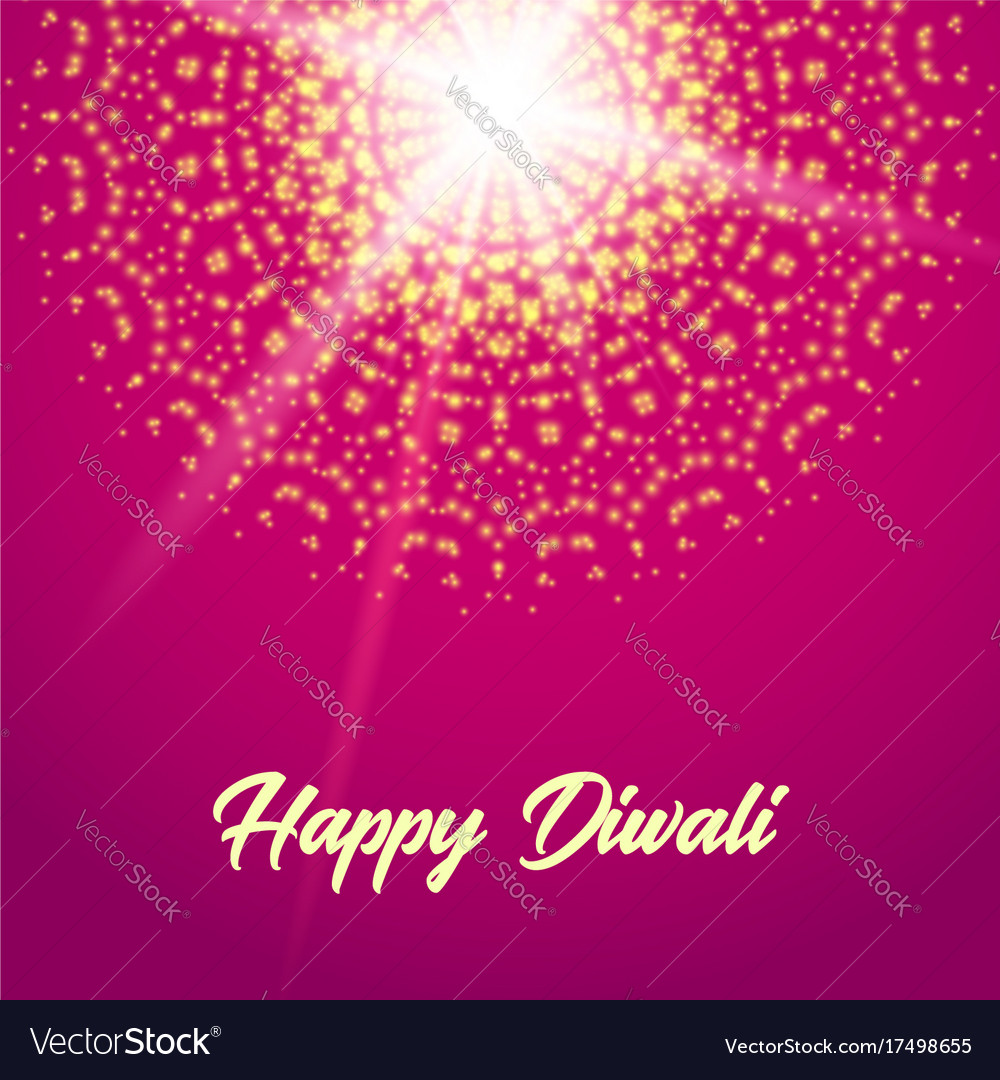 Happy Diwali Greeting Card Mandala Royalty Free Vector Image