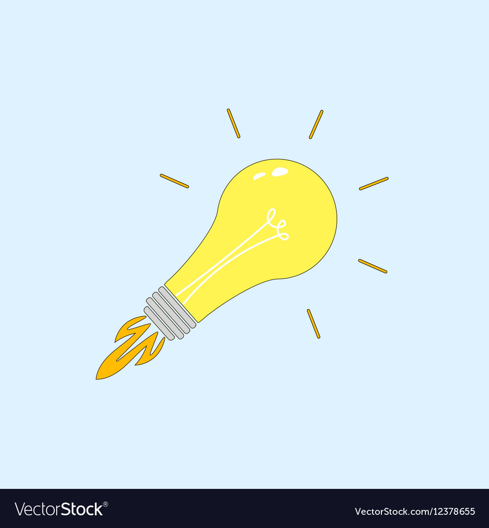 Light Bulb line icon isolated