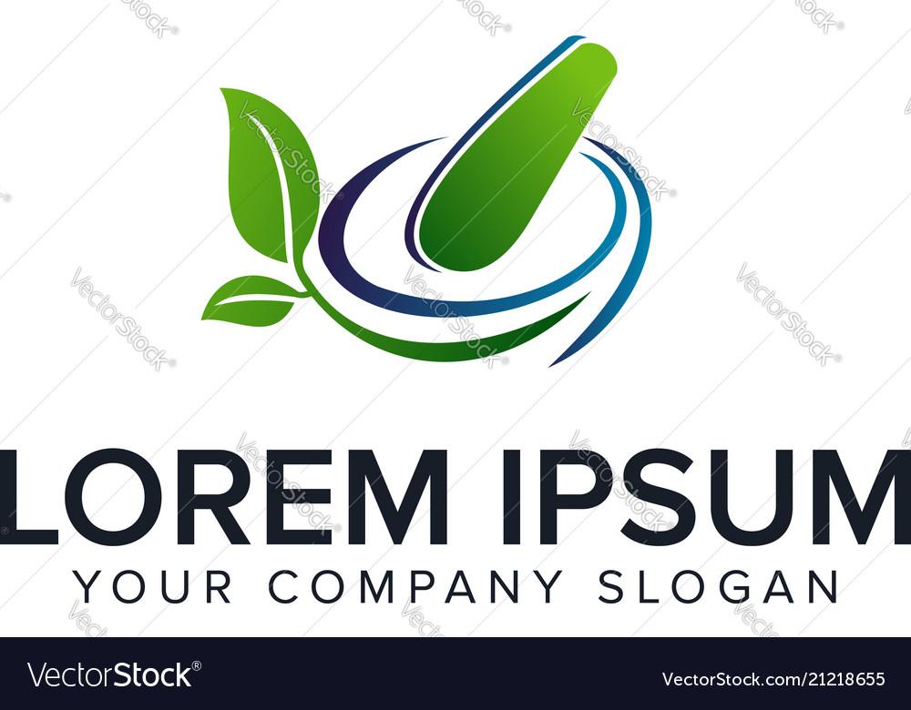 Medicine pharmacy herbal logo design concept