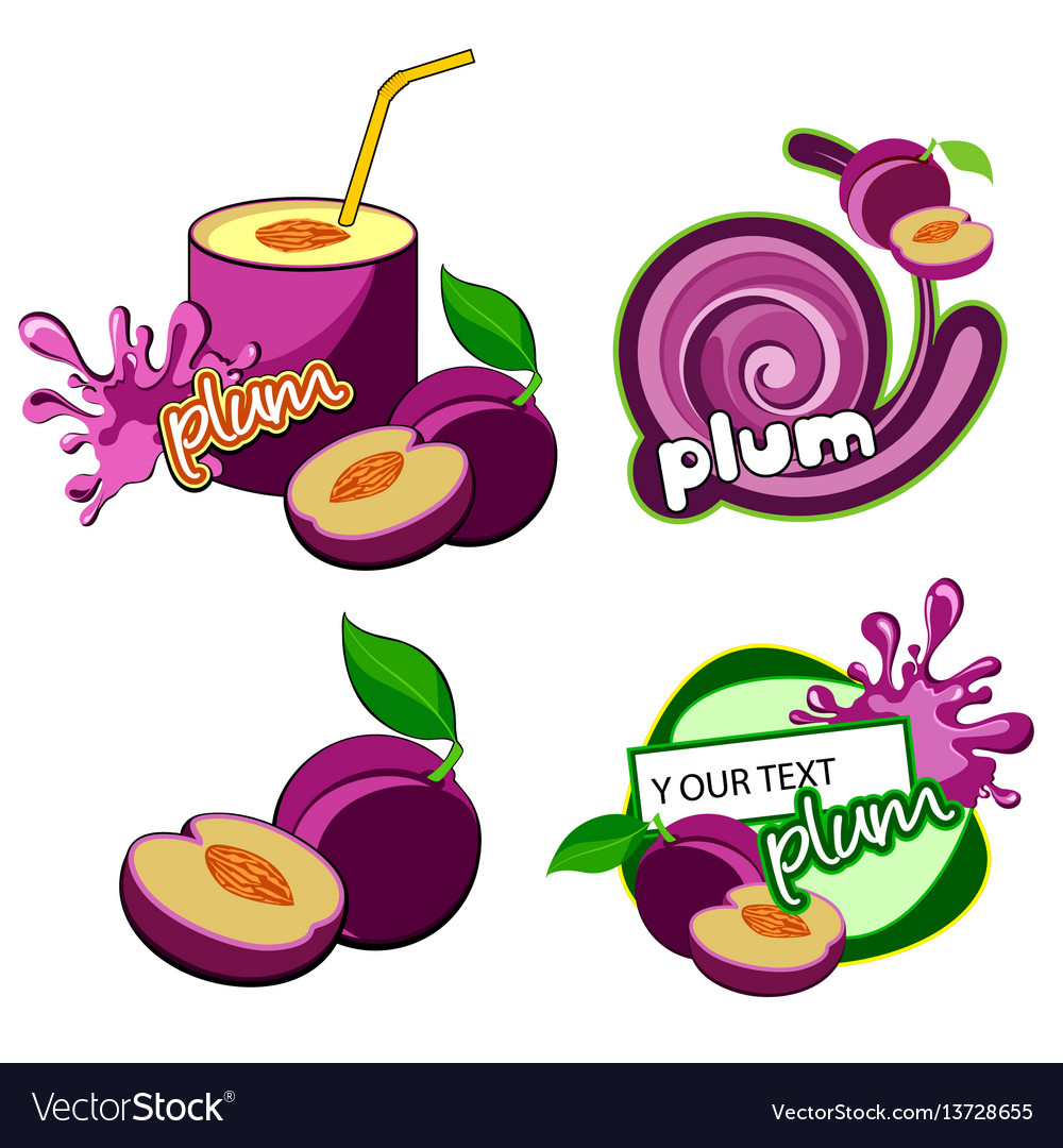 Plum icon isolated vector image