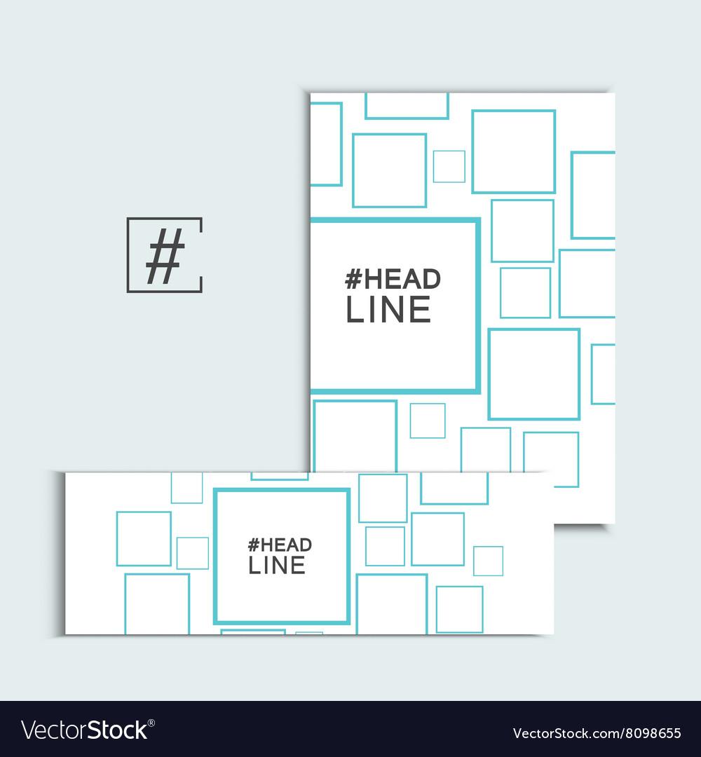 Template cover set presentation square