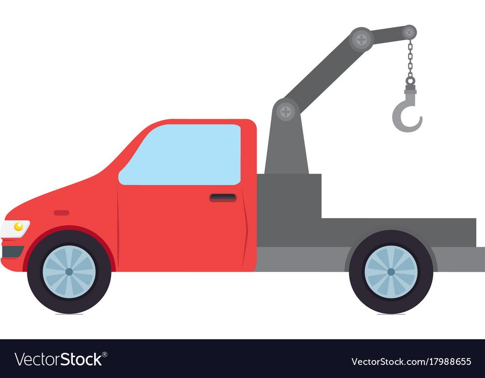 Truck crane isolated icon