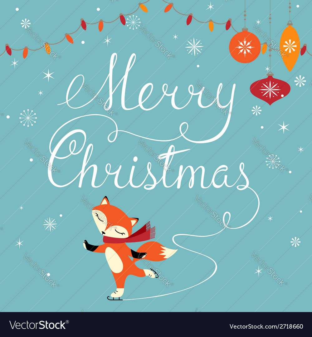 Foxy greeting vector image