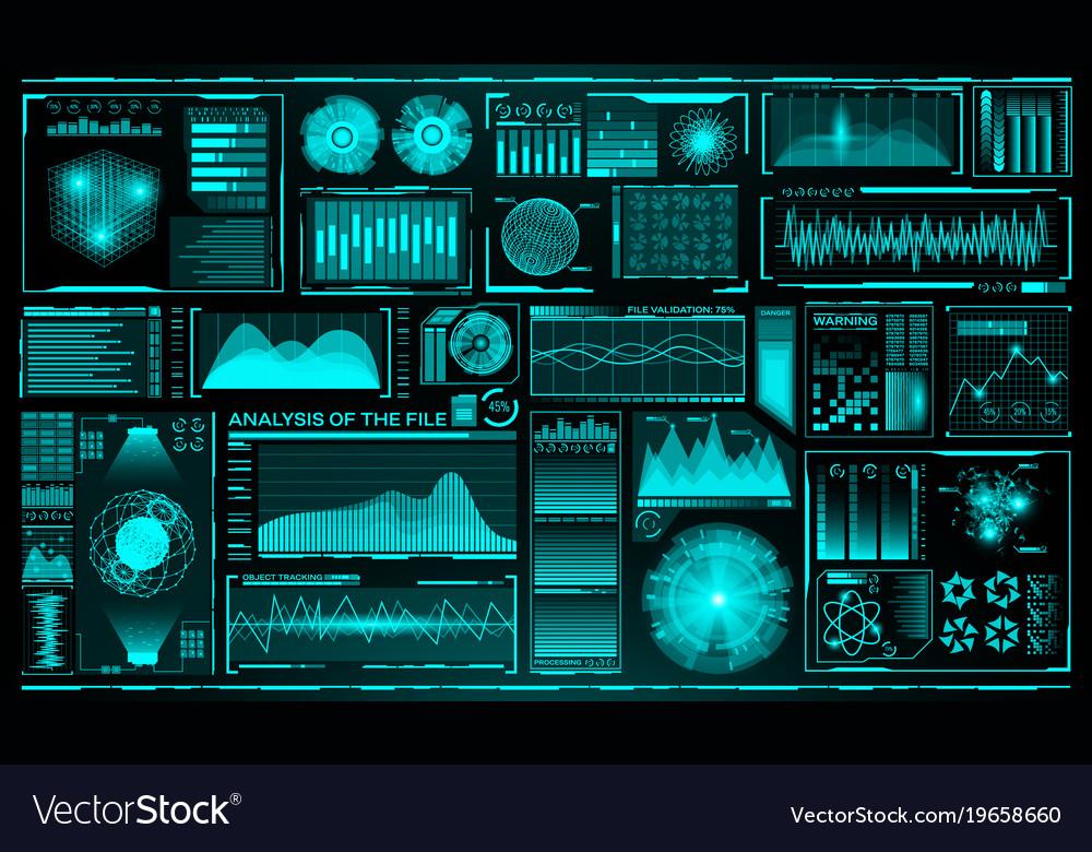 Futuristic user interface set hud future