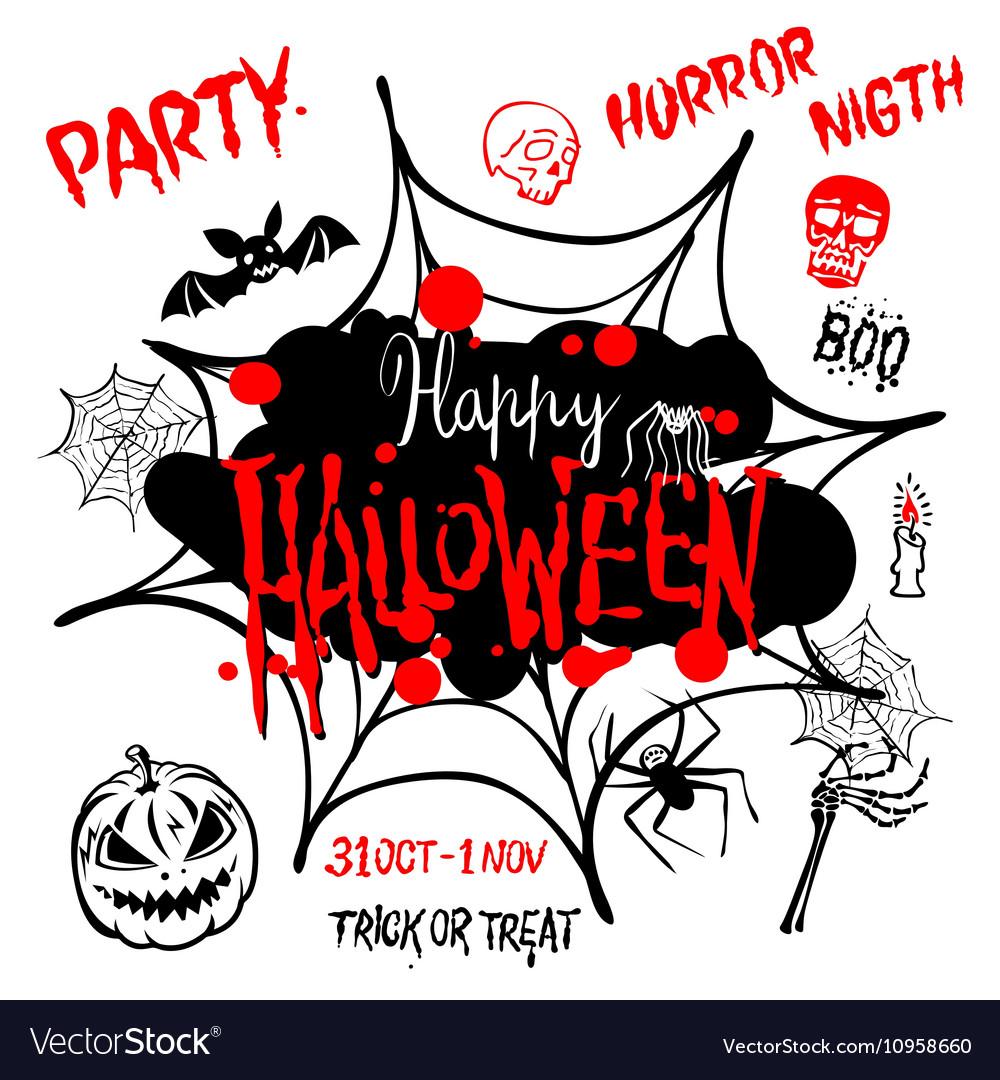 Halloween party Happy Halloween message design