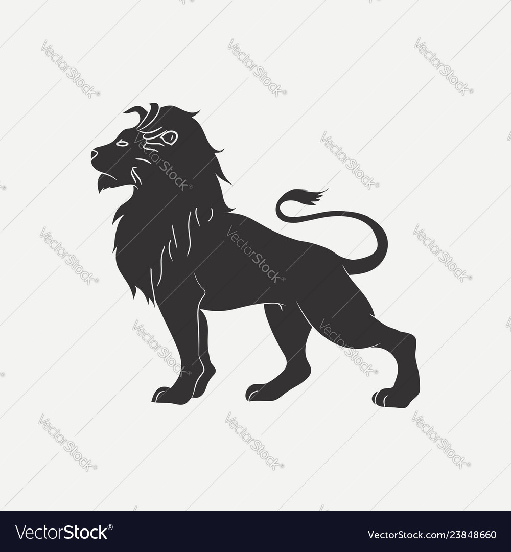 Lion icon vector