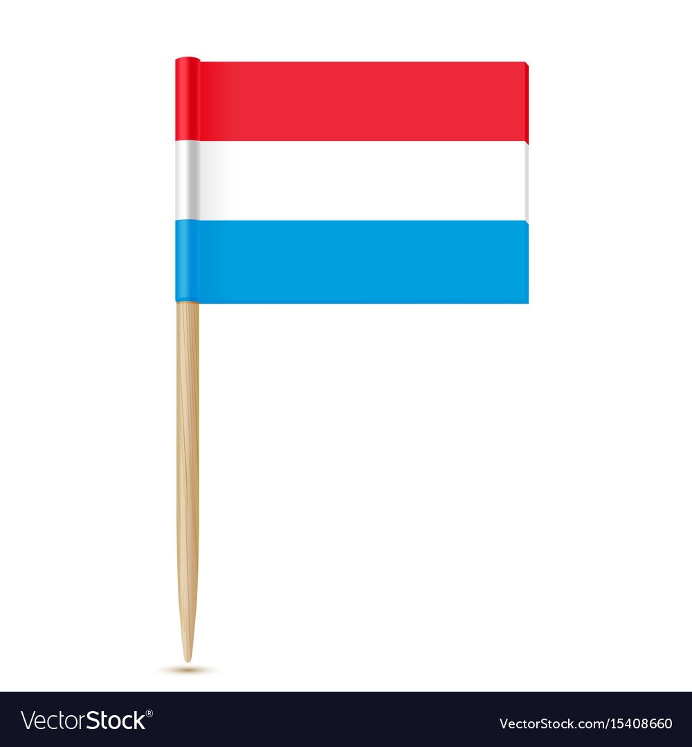 Luxembourg flag toothpick