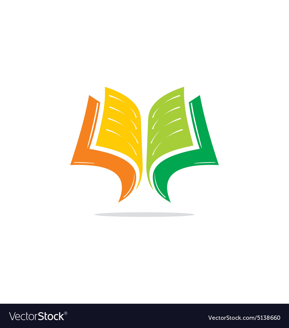 Open Book Learn Education Logo Royalty Free Vector Image