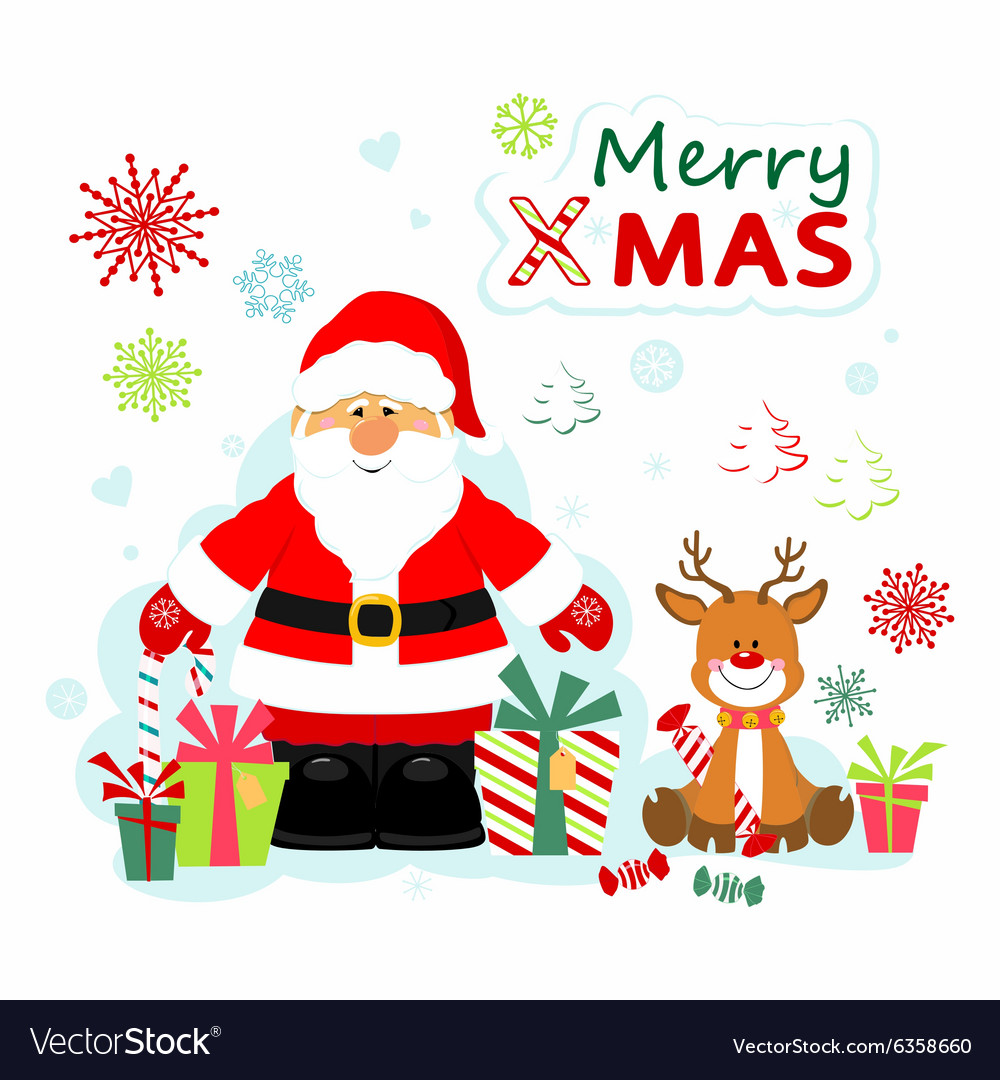 Santa Claus and Rudolf