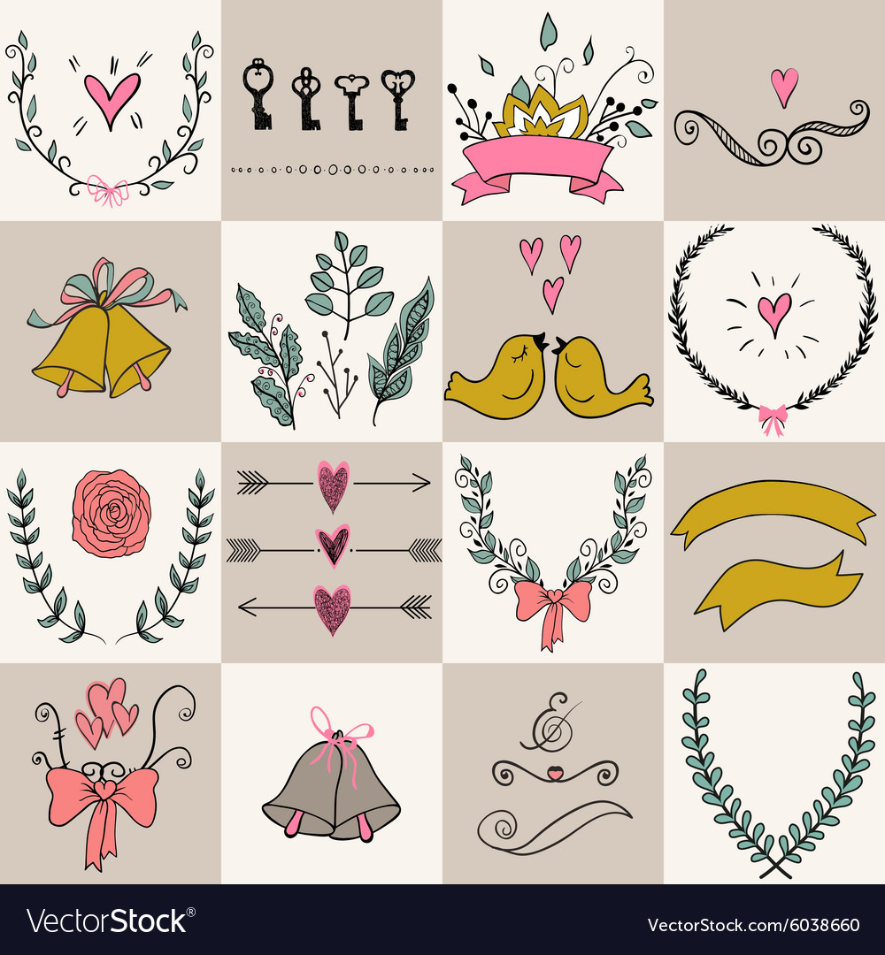 Set icons for valentines day mothers day