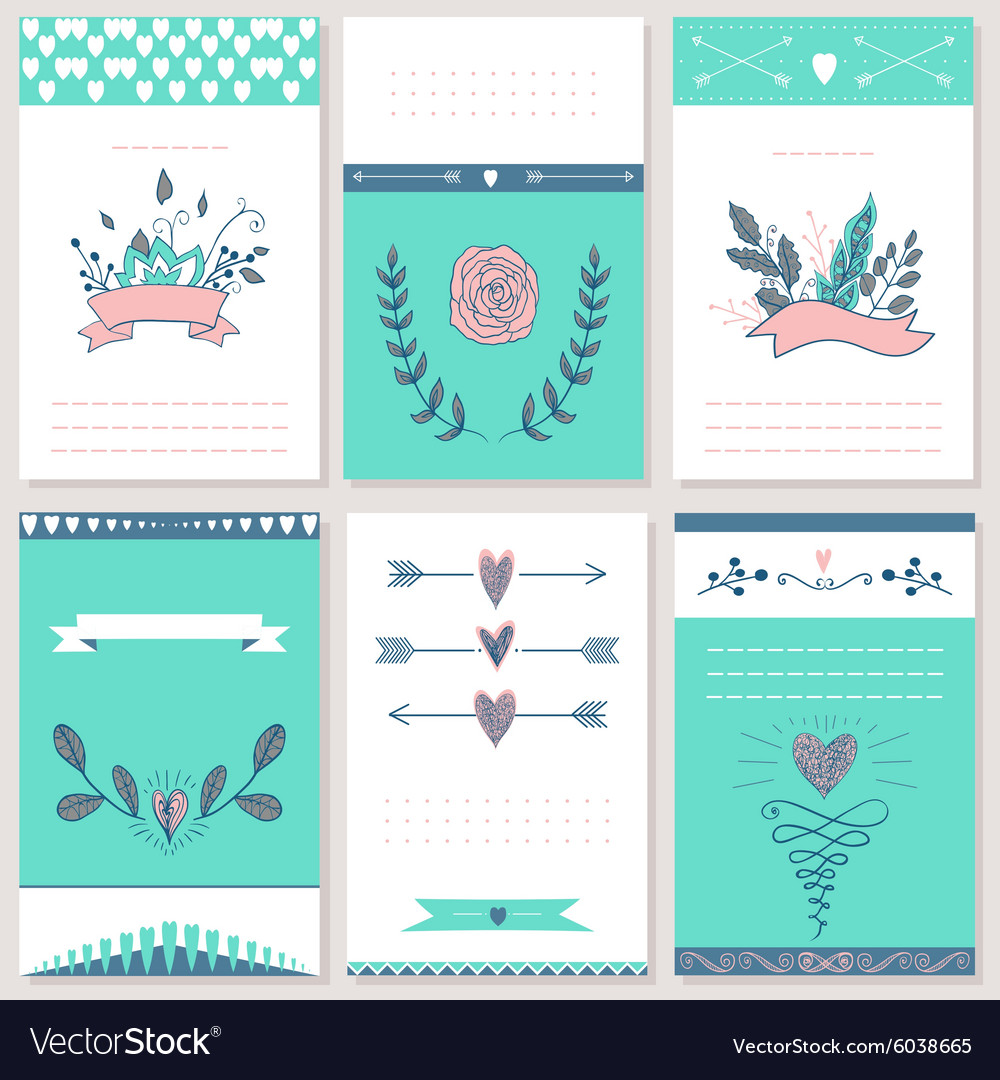 6 styled Valentine s Day Card design