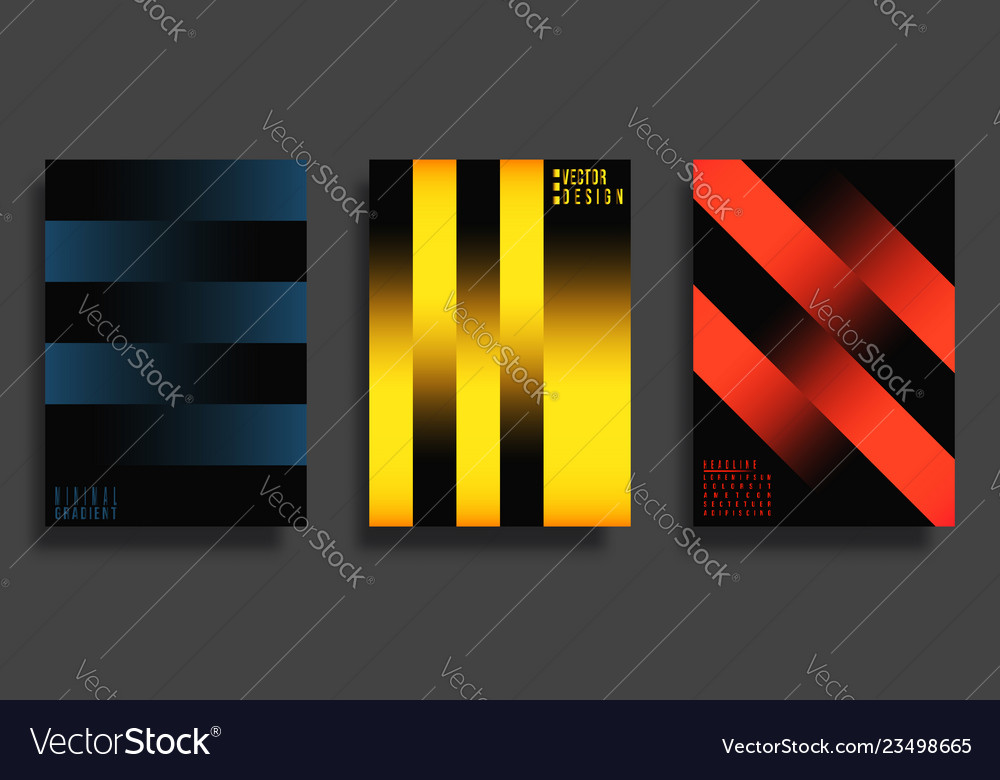 Abstract cover design gradient lines