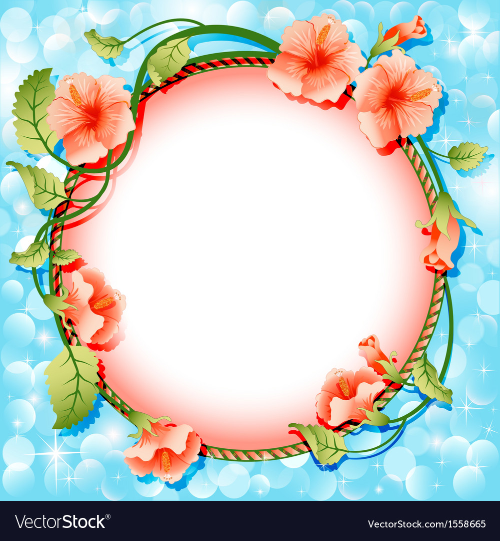 Background frame with flowers