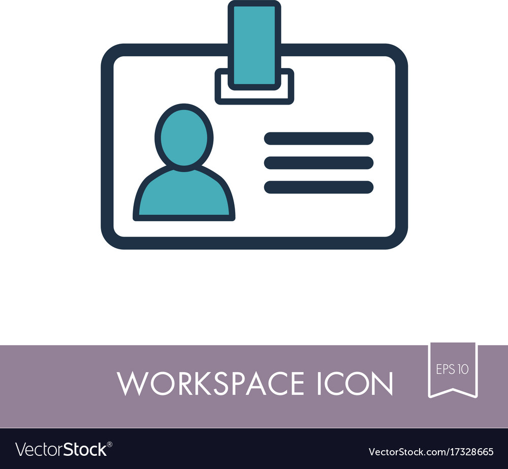 Badge outline icon workspace sign