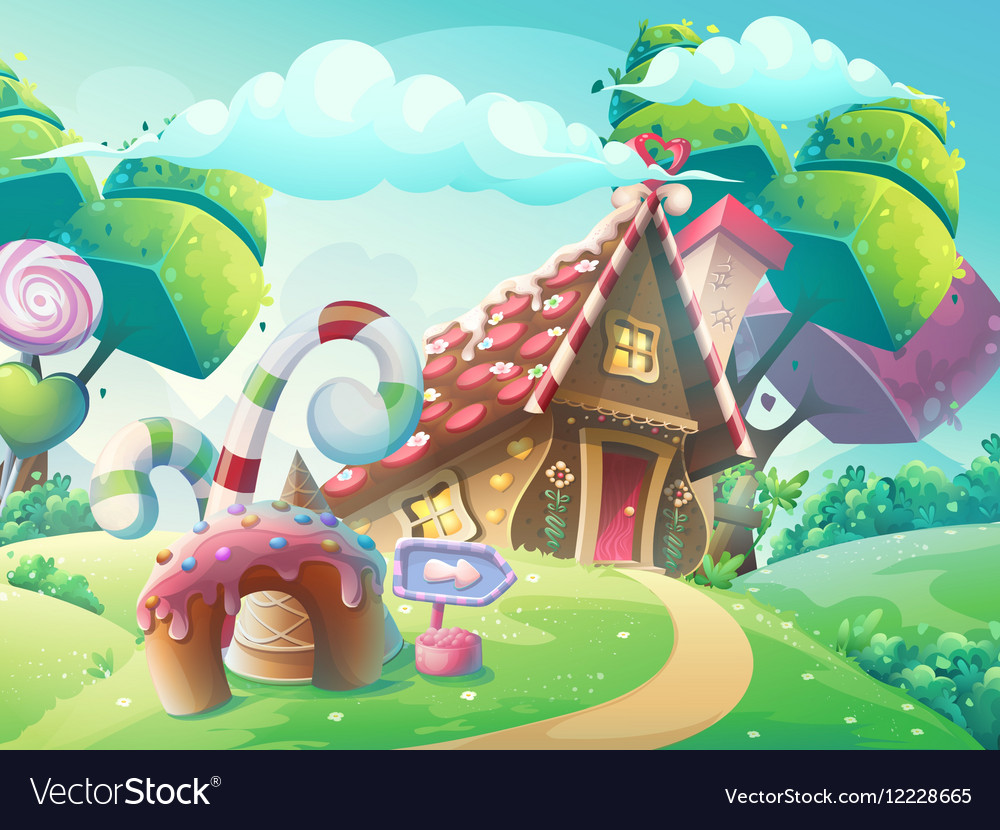 Cartoon Sweet Candy House