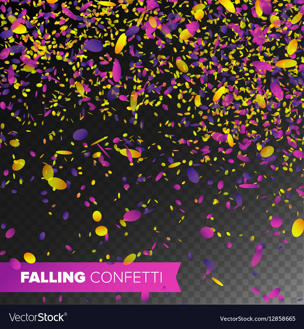 Confetti Falling Bright Explosion Isolated