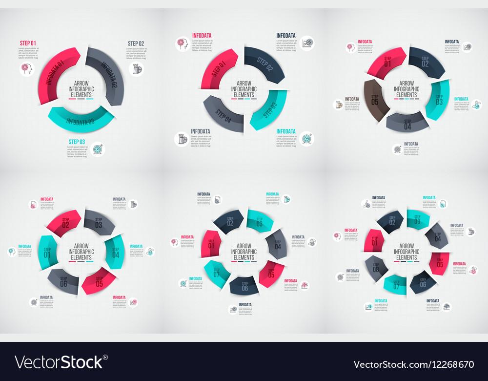 Arrows infographic set