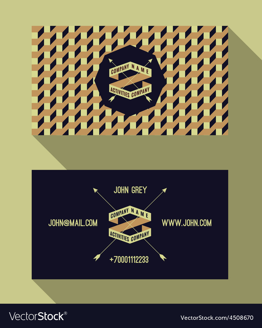 Business card template vintage retro background vector image wajeb Gallery