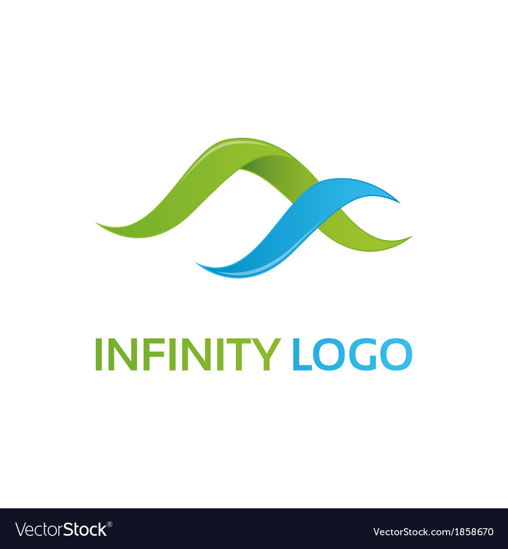 Green blue infinity logo template vector image