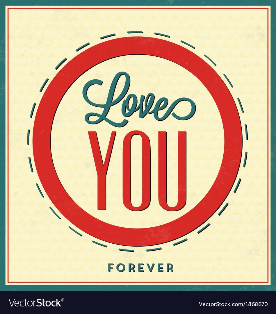 Quote Typographic Valentines Day Background