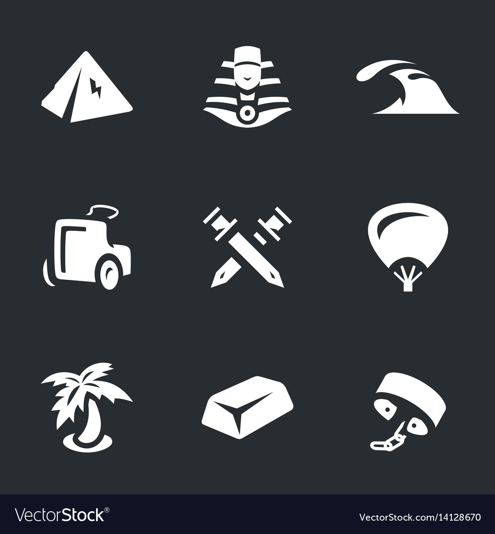 Set of ancient egypt icons