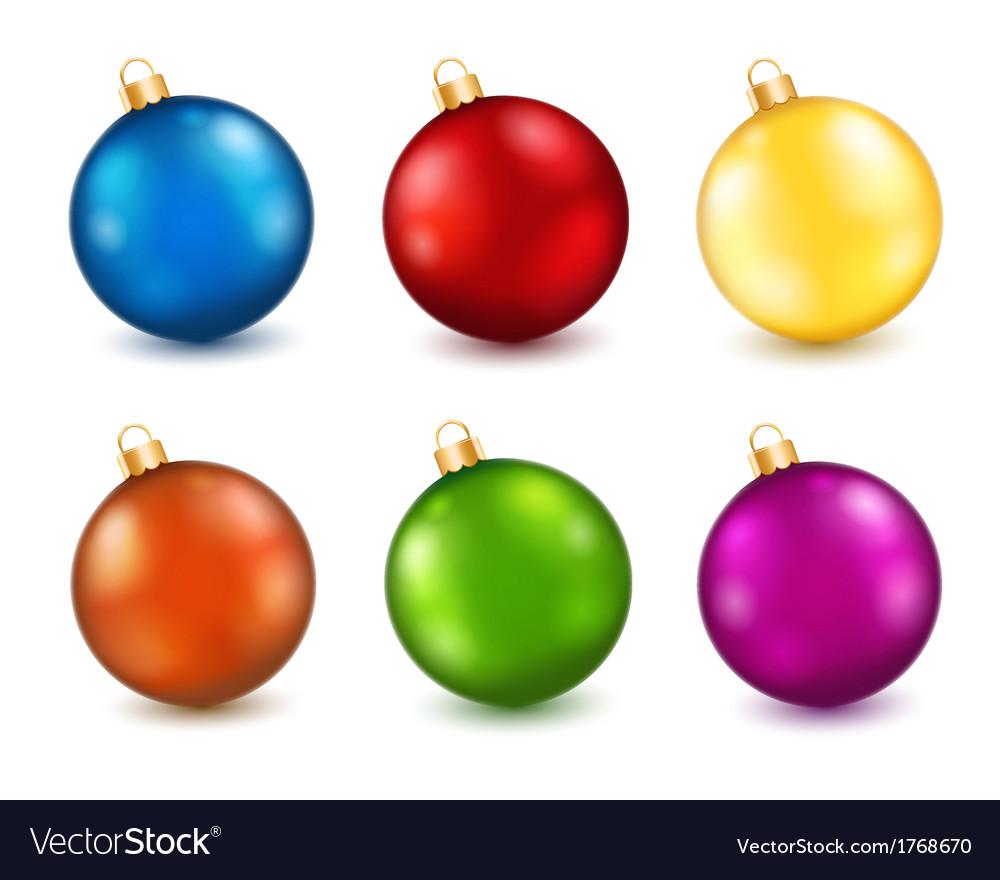 Colorful Christmas Balls.Set Of Color Christmas Balls
