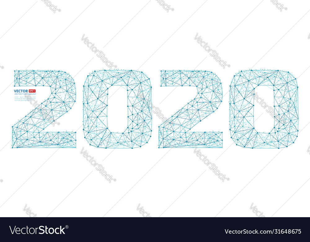 Abstract polygonal numbers for new year 2020
