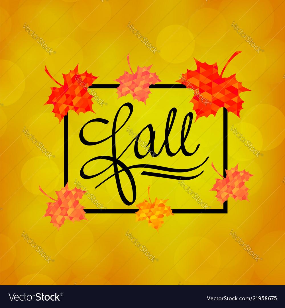 Autumn calligraphy seasonal fall lettering