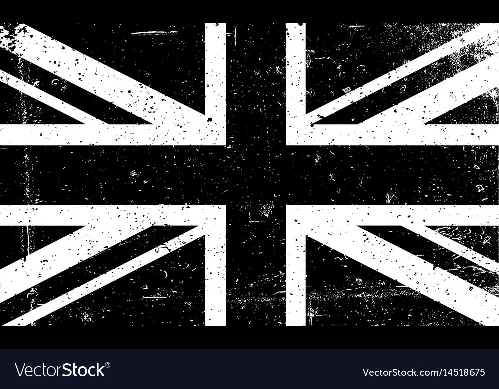 c9b9e7f4d9c9 Grunge black and white image of the british flag Vector Image