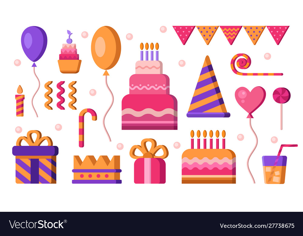 Happy birthday elements