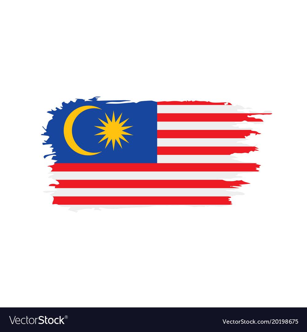 malaysia flag royalty free vector image vectorstock rh vectorstock com flag vector free flag vector icon