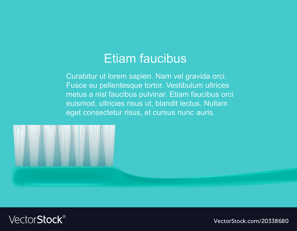 Dental concept toothbrush isolated flat design vector image