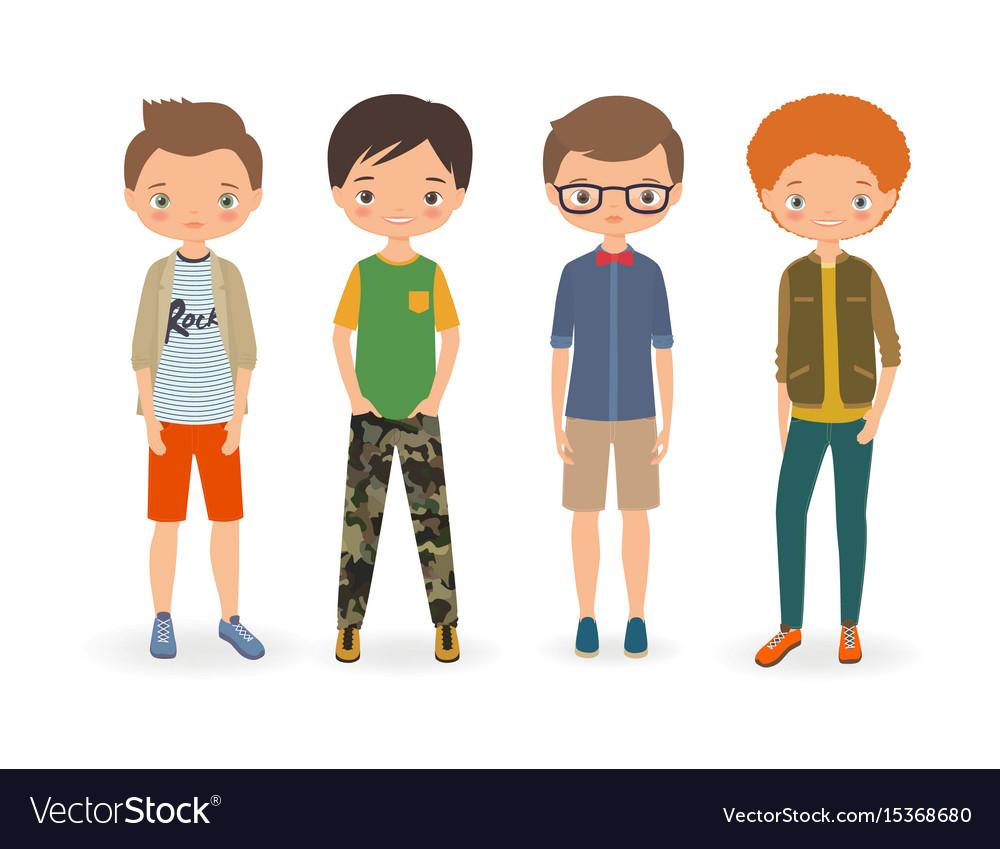 Fashion stylish boys