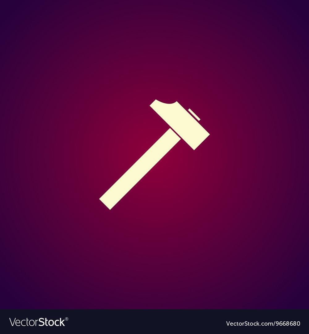 Hammer icon Flat design style