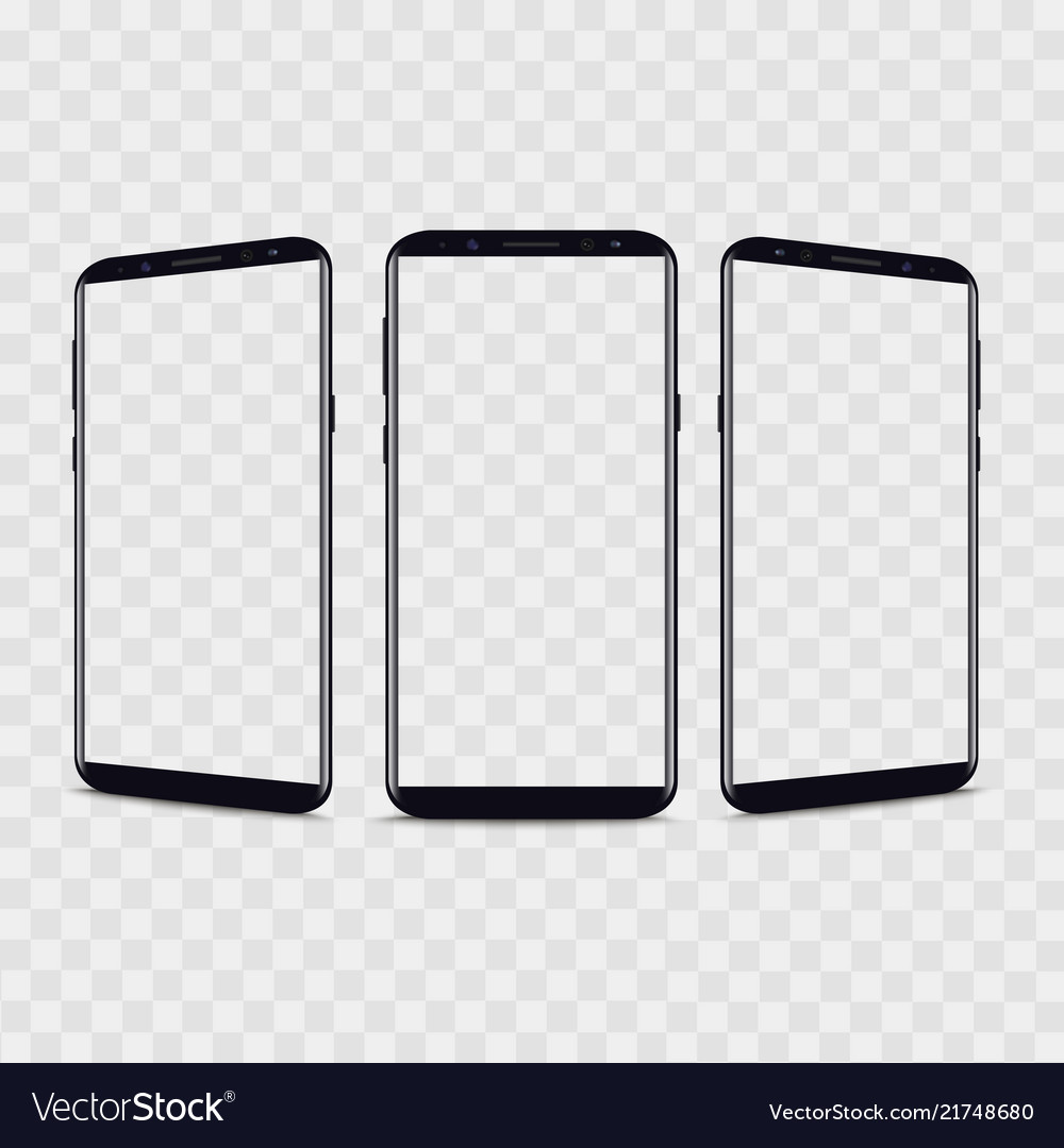 Realistic smartphone from different views