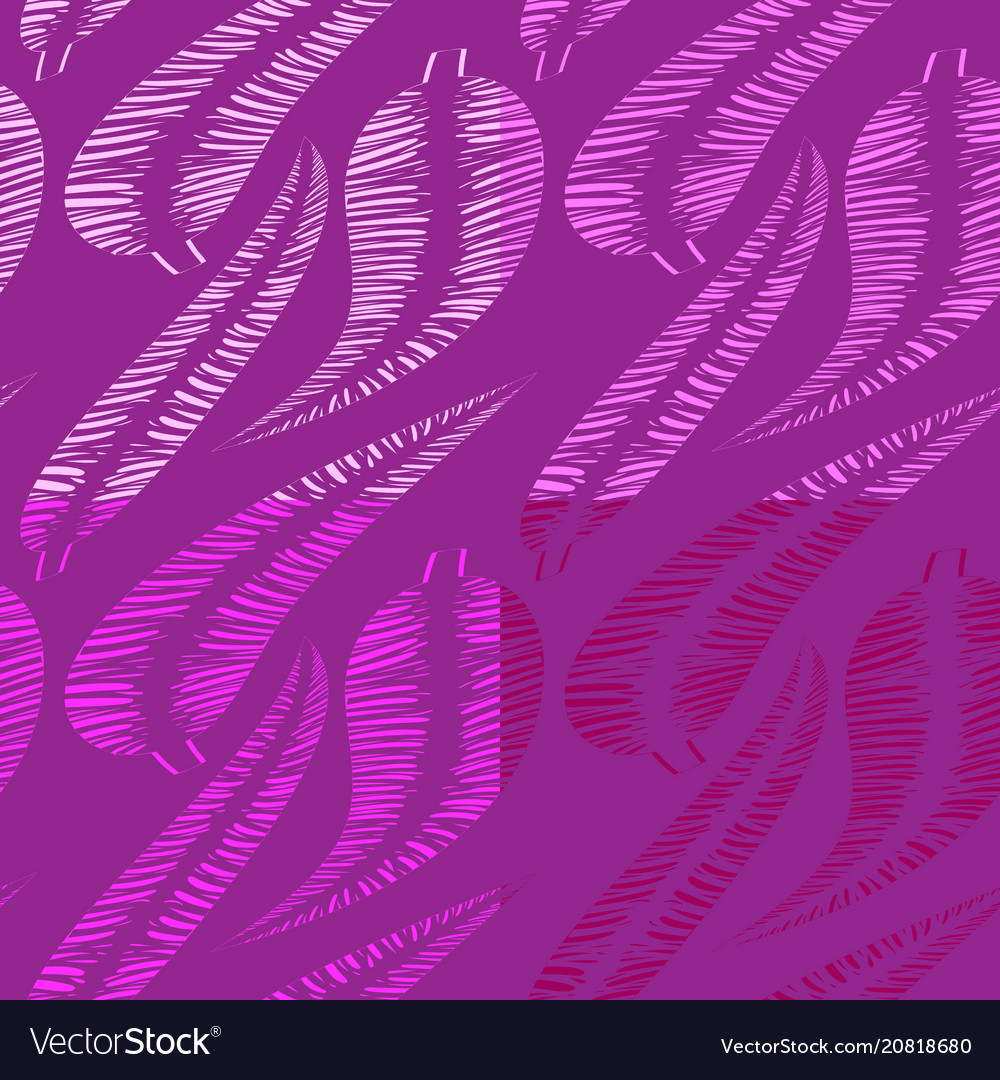 Set of patterns from shades of lilac feathers and