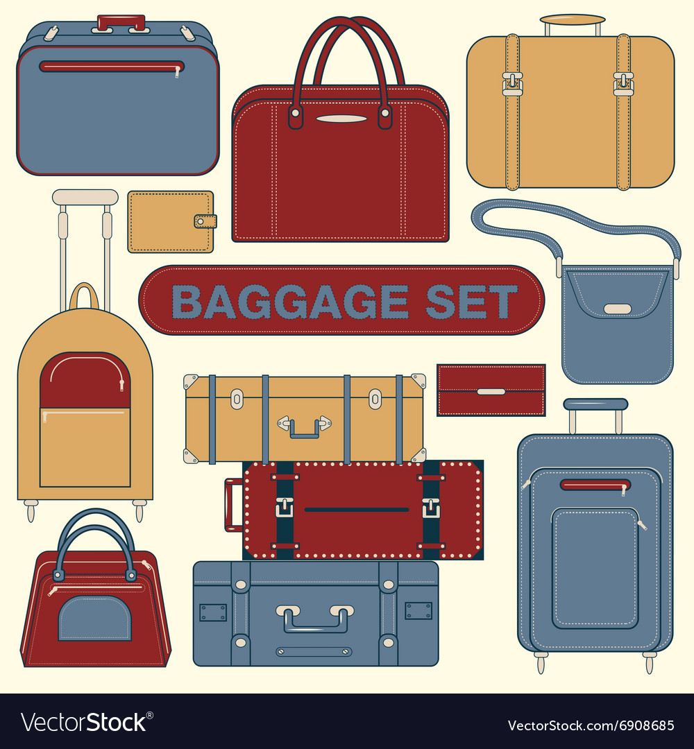 Baggage Set Different Bags and Suitcases